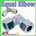 90 Degree Elbow Tube to Tube Compression Equal Pipe Coupling
